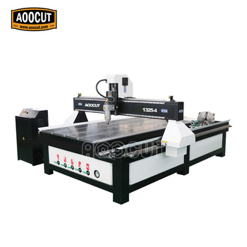 Aoocut 1325 woodworking engraving machine cnc router 4axis cnc router dsp control system for pvc cutting 1