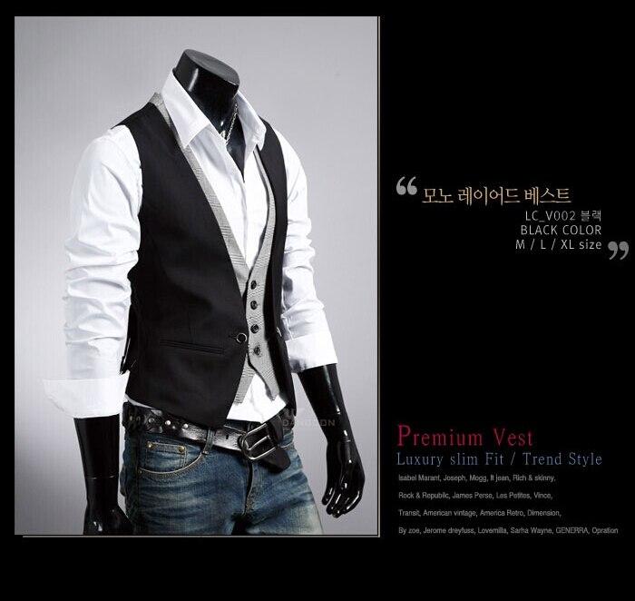Горячая распродажа мужской костюм из двух частей жилет мужской Приталенный жилет повседневный деловой пиджак размер M-2XL