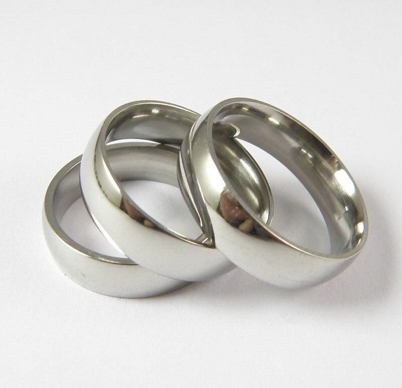 Simple Plain Titanium Steel Inner Ring Fine Polishing Stainless Steel Ring 6mm Ring Arc Wedding Rings For Women Fine Jewelry