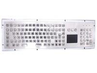 Механические usb металла промышленных клавиатура с тачпадом 103 ключей защищенный клавиатура Нержавеющаясталь клавиатура usb киоск