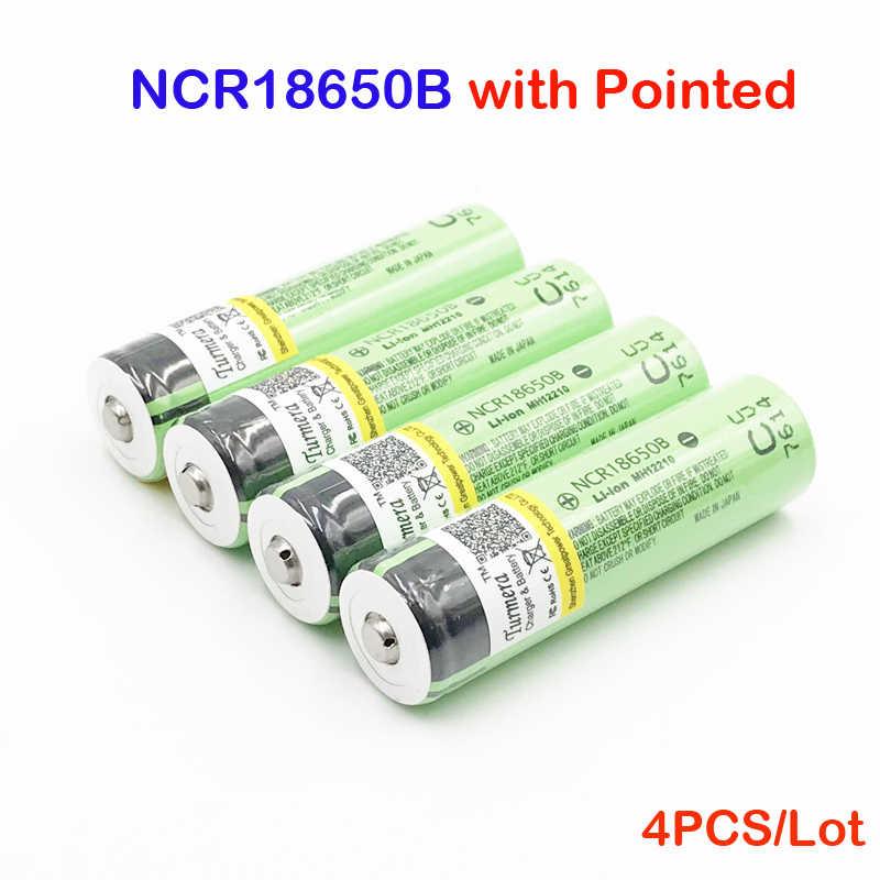 18650 NCR18650B 3400 мА/ч, 3,7 v 18650 с заостренными носками из 3400 мА · ч защищен 18650 аккумуляторная батарея для 18650 зарядное устройство острым fe10