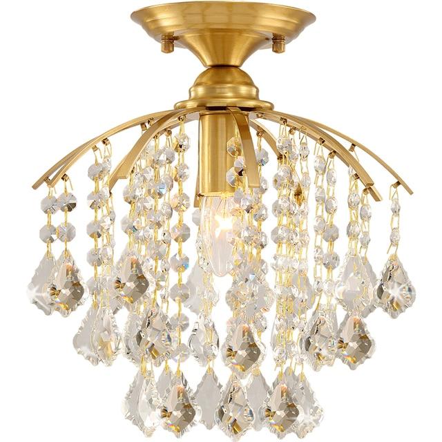 cobre techo Comparar JAXLONG de lámpara lujo moderna WIEH9D2