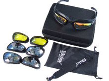 Daisy C5 polarized Goggles Desert 4 Lens Outdoor UV400 Protection Hunting Military Sunglasses with Case War Game Glasses