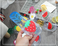 Тапочки для девочек; летние популярные Вьетнамки; детские сандалии; Прозрачные Пляжные шлепанцы для девочек с фруктами; детская обувь; тапо...