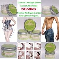 2 упаковки, чистый экстракт гарцинии, камбоджийский антицеллюлитный крем, гель для похудения, сжигание жира, эффективный для мужчин и женщин