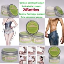 2 パック純粋な garcinia エキス抗セルライトクリーム、脂肪の損失痩身ジェル脂肪を燃焼効果的な男性 & 女性
