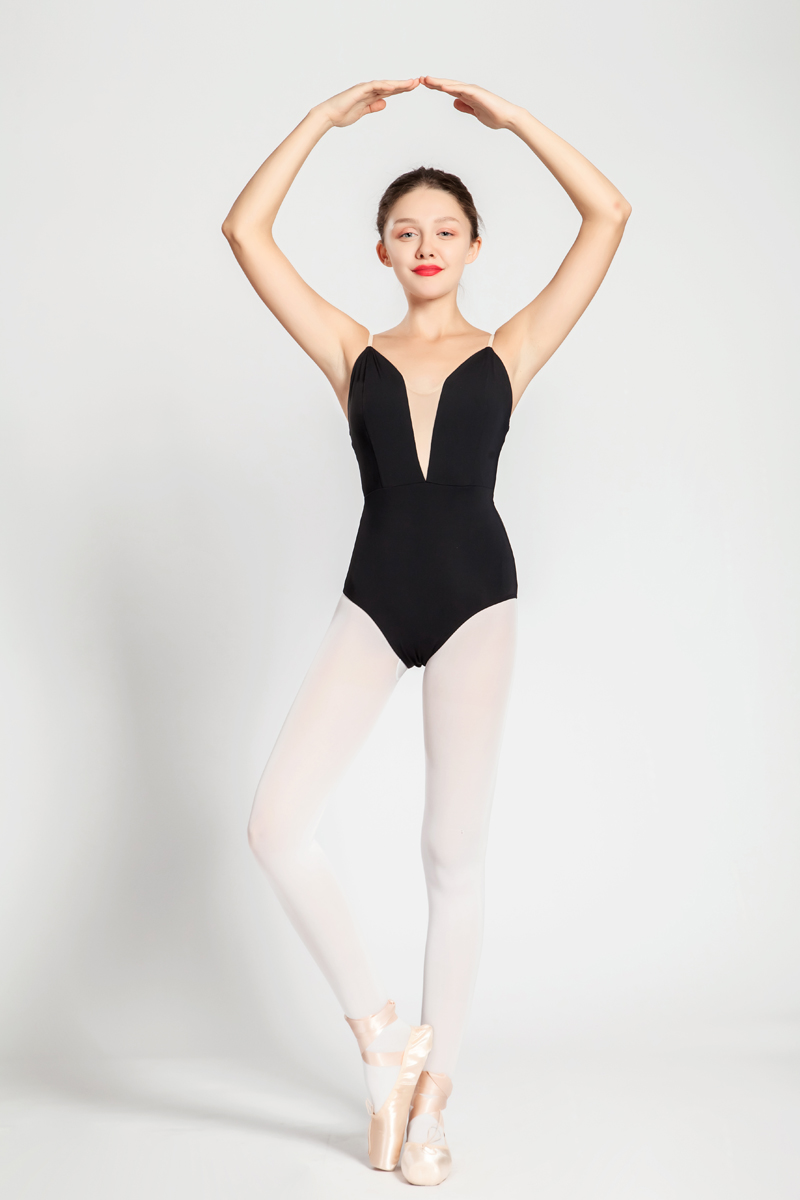 Image 4 - Ballet Leotards Adult New Style Black Sexy Comfortable Practice Dancing Clothes Women Gymnastics Leotard Cheap Ballet Dance Wear-in Ballet from Novelty & Special Use