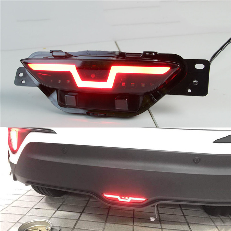 2PCS For Toyota C-HR CHR 2016 2017 2018  Multi-functions Car LED Bumper Light Rear Fog Lamp Reverse Light Auto Bulb Brake Light2PCS For Toyota C-HR CHR 2016 2017 2018  Multi-functions Car LED Bumper Light Rear Fog Lamp Reverse Light Auto Bulb Brake Light