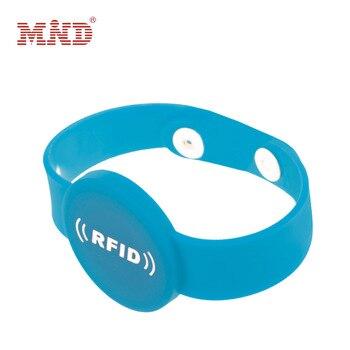 Silicone 13.56mhz RFID Wristband MF 1K Proximity Waterproof NFC Smart