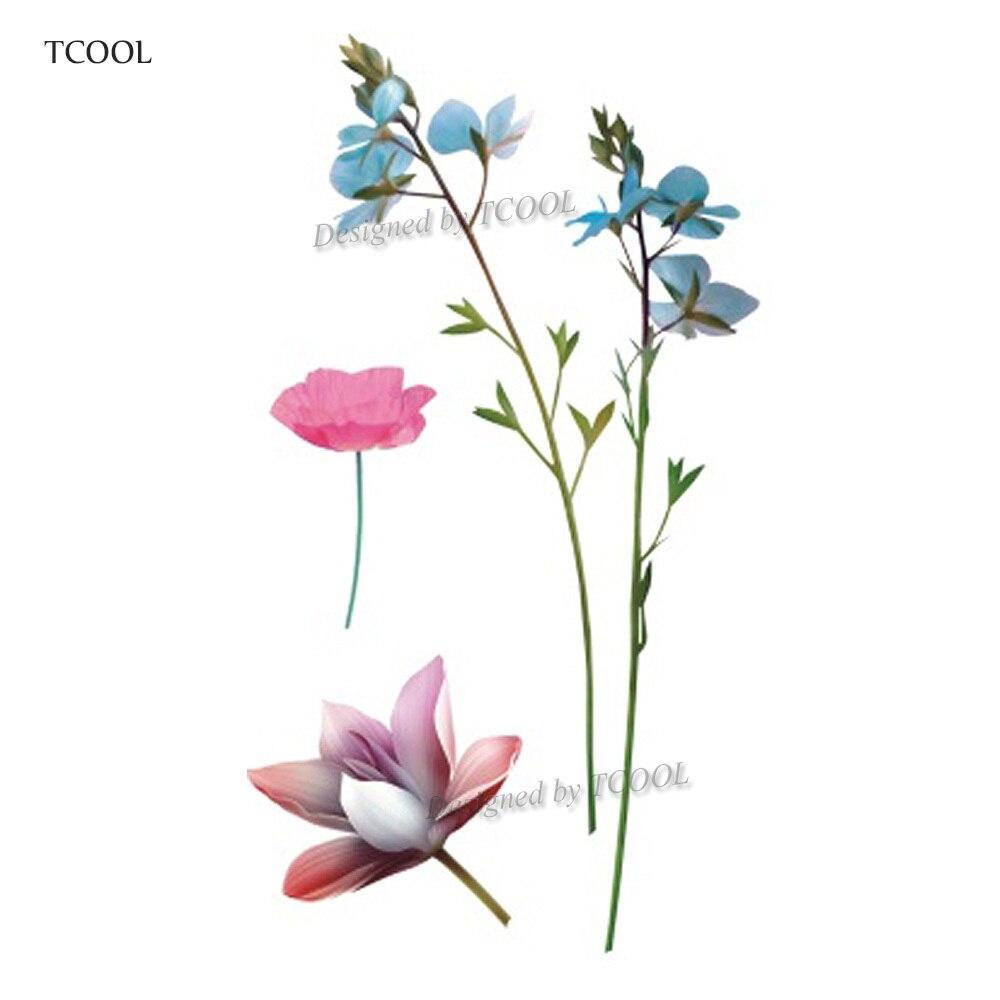 HXMAN Flower Temporary Tattoos Sticker Waterproof Fashion Women Arm Face Fake Body Art 10.5X6cm Kids Adult Hand Tatoo P-056
