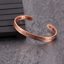 Vinterly Magnetic Bracelets Bangles Vintage Pure Copper
