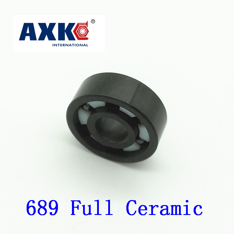 Axk 689 Full Ceramic Bearing ( 1 Pc ) 9*17*4 Mm Si3n4 Material 689ce All Silicon Nitride Ceramic 618/9 Ball Bearings sinix 689