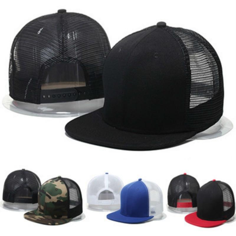 Magas minőségű Blank Mesh Camo Baseball sapka Fekete Hip Hop Hat - Ruházati kiegészítők