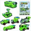 7-in-13 DIY solar robot juguetes para niños seguros verde cambiar de equipo unidad de energía solar kit de montaje de regalo ideas