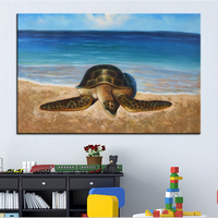 Wall Art Wall Decor Wall Painting Sea Turtle Digital Oil Painting Print Nice Painting For Wall