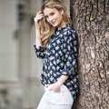Veri Gude Women's Floral Print Cotton Blouse Fashion Loose Style Print Shirt