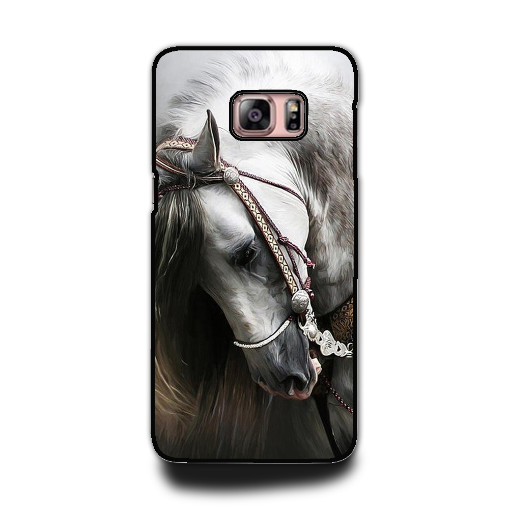 new product 3f134 9f7af US $1.42 5% OFF Hot Sale White horse Phone Hard Plastic Case Cover For  Samsung galaxy note 3 4 5 s3 s4 s5 s6 s6edge s7 s8 s8plus-in Phone Bumpers  from ...