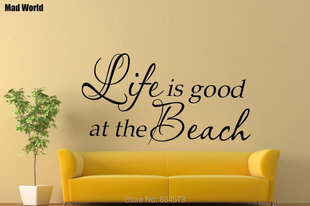 Mad World Life Is Good At The Beach Wall Art Stickers Decal Home Diy