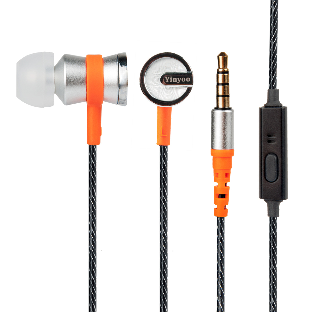New Yinyoo IN8 Balanced Armature With Dynamic In-ear Earphone Hybrid HiFi Bass Noise Canceling Headset With Mic 2017 new magaosi k3 pro in ear earphone 2ba hybrid with dynamic hifi earphone earbud with mmcx interface headset free shipping