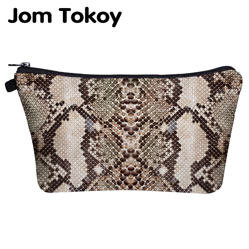 Jom Tokoy Cosmetic Bag Printing Serpentine Easy Makeup Bag Organizer Womens Beauty Bag