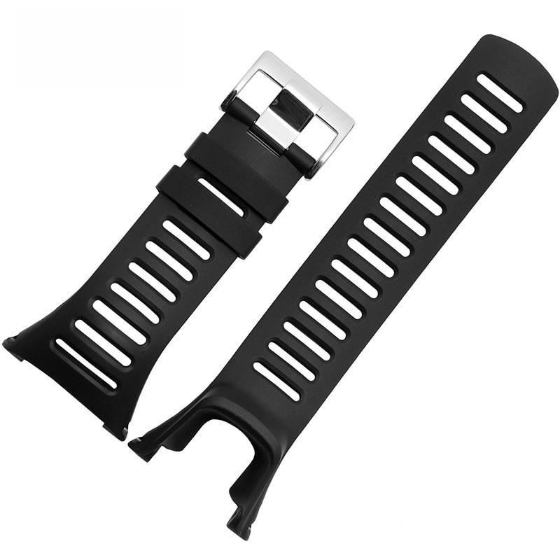 Soft Silicone Watch Band  Rubber Watch Strap Waterproof Watchband For Suunto Ambit 1|2|3 Watch outad men women silicone rubber waterproof watch band strap 21cm for garmin fenix3 relogio masculino