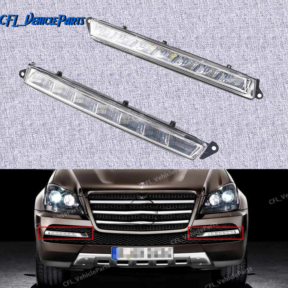 Left Or Right LED Daytime Running Light Fog Lamp 1649060351 1649060451 For Mercedes-Benz X164 X166 GL320 GL350 ML63 AMG(China)