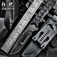 HX OUTDOORS camping knife D2 blade saber tactical fixed knife zero tolerance Hunting survival tools cold steel straight knife