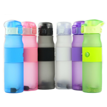 New frosted plastic cup outdoor sports bottle creative riding portable with large capacity water bottleNew frosted plastic cup outdoor sports bottle creative riding portable with large capacity water bottle