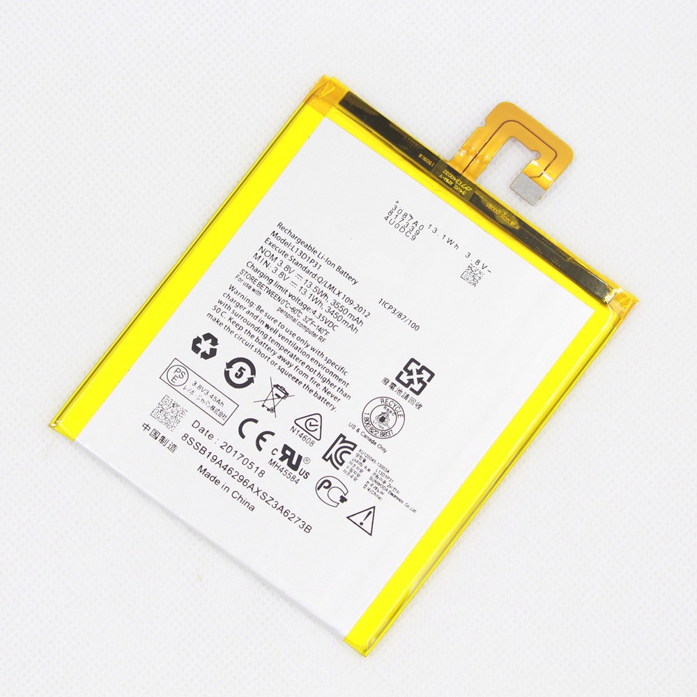 3,8V Akku f/ür Tablet Lenovo Typ L13D1P31 Li-Polymer