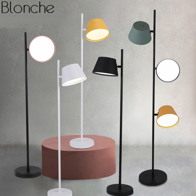 Modern Nordic Iron Floor Lamps for Living Room Led Standing Lamp Bedroom Study Stand Light Fixtures Loft Home Decor Luminaire modern led living room floor lamp wooden luminaire bedroom standing lamps nordic illumination home deco lighting fixtures