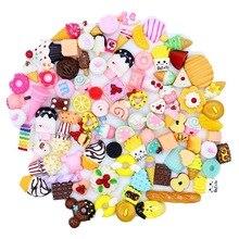 10 шт Diy поставки слаймов аксессуары чехол для телефона украшение для слизи наполнитель миниатюрная полимерная для торта фрукты Конфеты Шоколад обучения