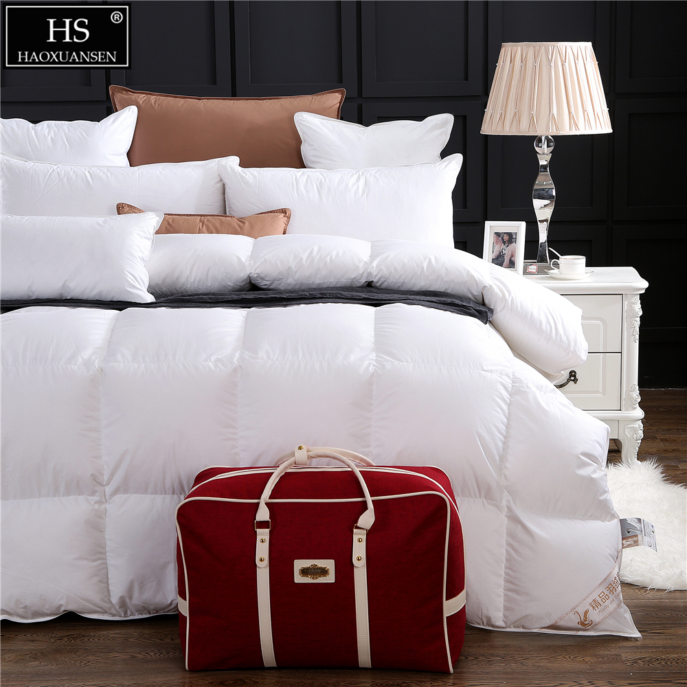 80S Fabric Filling Power 800 High Density  Natural Colored Cotton Warm Winter Goose Down Quilt King Queen Twin Size Duvet|Comforters & Duvets| |  - title=