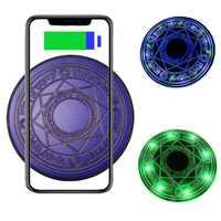 Cargador inalámbrico Qi de 10W Tongdaytech para el iPhone 8 Plus X XS 11 Pro Max almohadilla de carga inalámbrica rápida para Samsung S10 S9 S8 Cargador