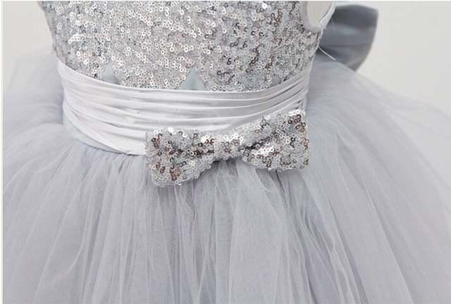 c070e77e7 Online Shop New Silver Sequins Sleeveless Princess Baby Girls ...