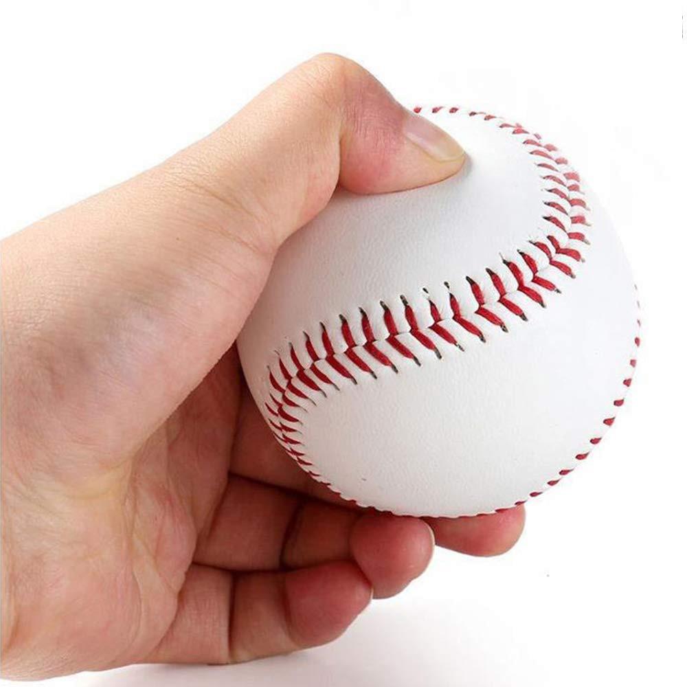 """Obliging 9"""" Handmade Baseballs Pvc Upper Rubber Inner Soft Baseball Balls Softball Hardball Training Exercise Baseball Ball High Quality Wide Varieties"""