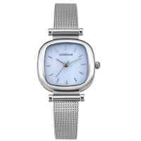 HOREDAR Elegant Square Women Watch Brand Classic Small Dial Quartz Wristwatch Vintage Style Hot Clock Ladyfan