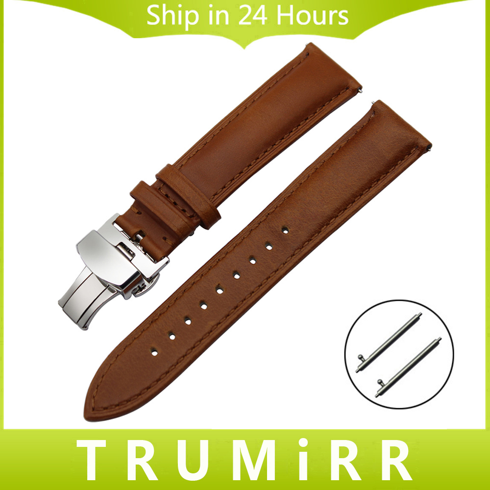 18mm 20mm 22mm Imported Calf Genuine Leather Watchband Quick Release Strap Universal Men Women Watch Band Wrist Bracelet Brown top layer cowhide genuine leather watchband for swatch men women watch band wrist strap replacement belt bracelet 17mm 19mm 20mm