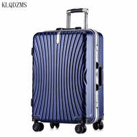 KLQDZMS 20/24Inch Business Travel Luggage PC Wear resistant Rolling Luggage Spinner Trolley Suitcase On Wheels