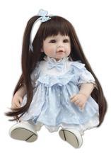 Nicery 20inch 50cm Lifelike Reborn Baby Doll Girl High Vinyl Christmas Toy Gift for Children Smile