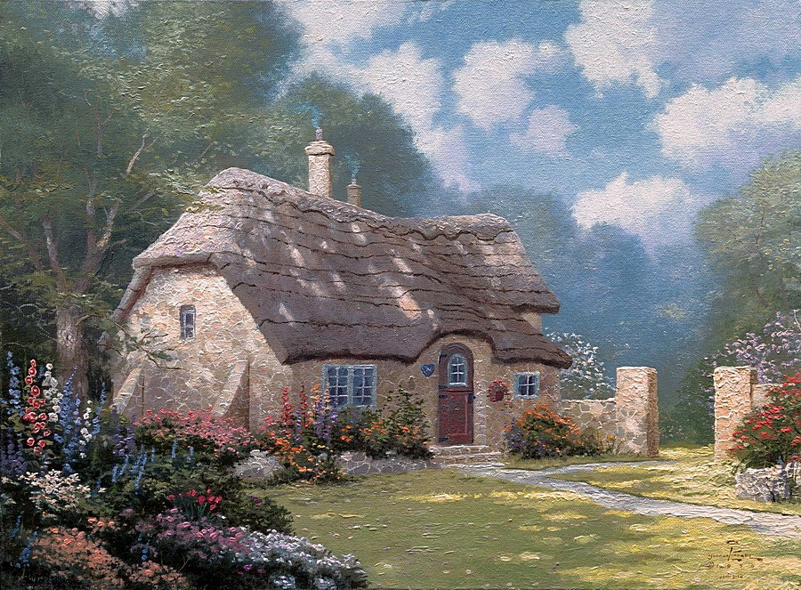 Aliexpresscom  Buy Spring At Stonegate Thomas Kinkade -7806