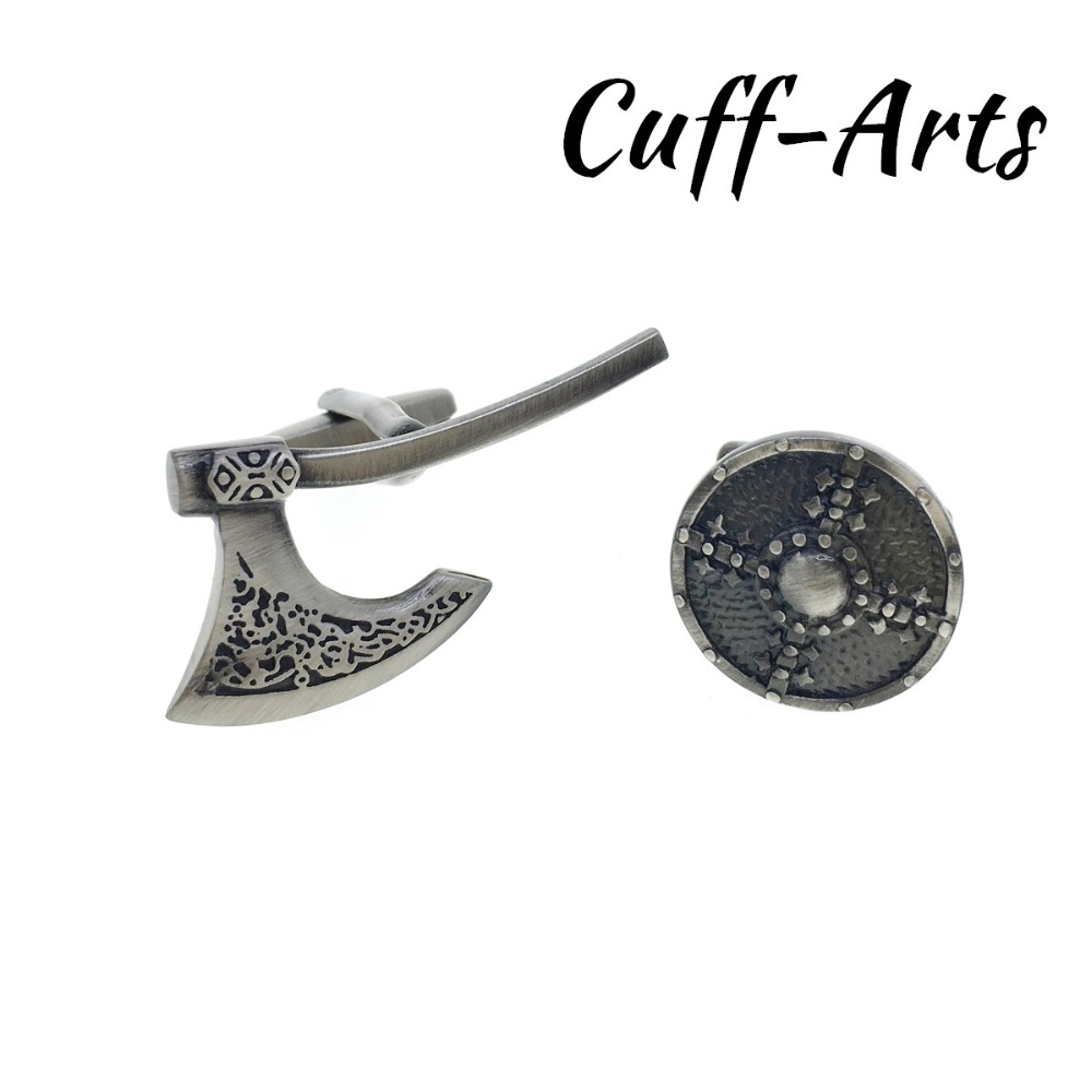 Cufflinks For Men Viking Axe And Shield Cufflinks Mens Cuff Jewelry Mens Gifts Vintage Cufflinks By Cuffarts C10299