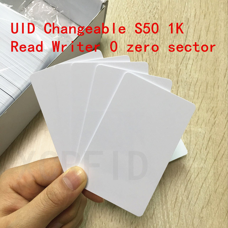 UID Cards RFID Changeable Writable Proximity Smart Card 13.56MHz Block 0 HF Copy Clone Libnfc Proxmark3 10PCS/LOT ...