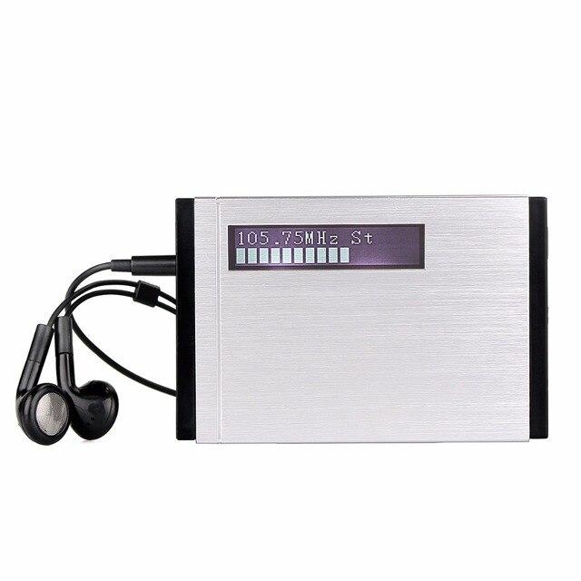 TIVDIO T 101 DAB Radio Pocket Receiver Mini Portable FM Stereo Clock ...