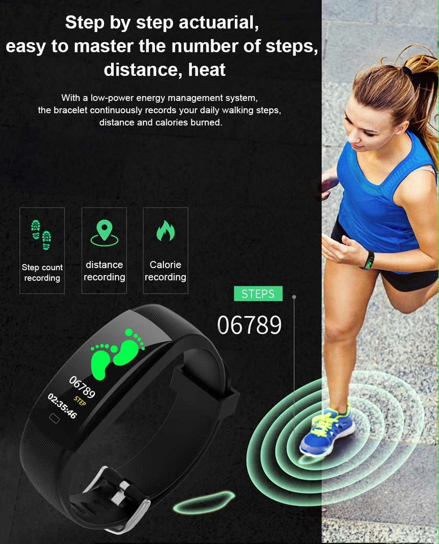 F64C Smart Wristband Καρδιακός ρυθμός Smart - Έξυπνα ηλεκτρονικά - Φωτογραφία 3
