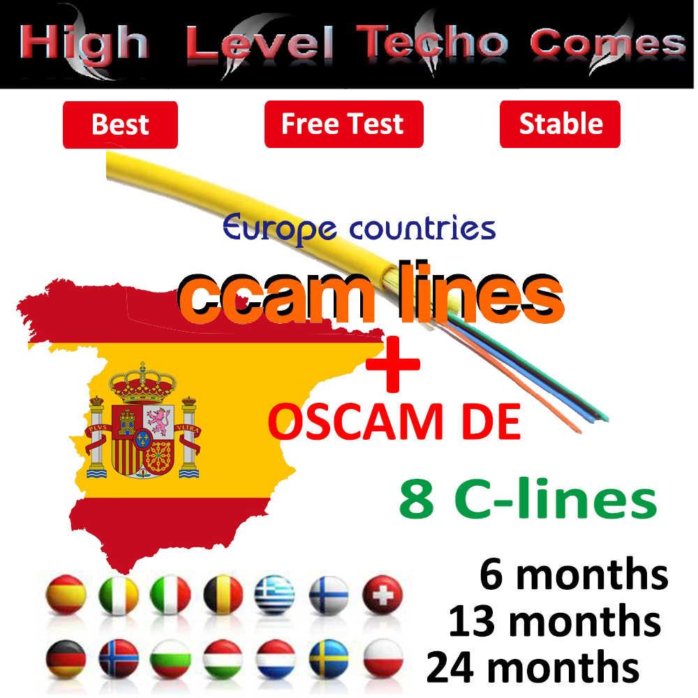 6 Lines Europe Cccam hd line Cccam Server Account Spain