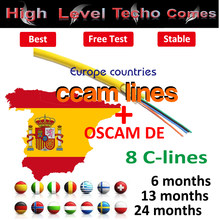 Receptor satelite cccam cline OSCAM Germany for 1 year europe cccam
