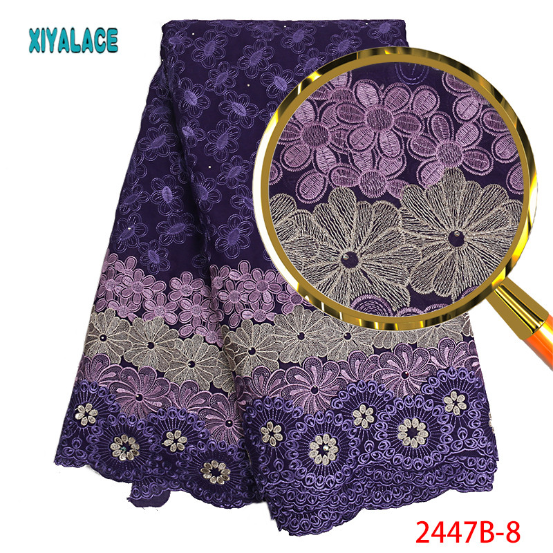 African Lace Fabric Dry Lace Fabrics High Quality Cotton lLace Fabric Embroidery Swiss Voie Lace Fabric