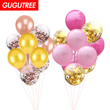 Decorate 10pcs 12inch black pink blue green latex balloons wedding event christmas halloween festival birthday party PD-137