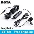 BOYA BY-М1 Всенаправленный Камеры Петличный Конденсаторный Микрофон для Canon Nikon Sony iPhone 7 Plus DSLR Видеокамеры Audio Recorder