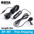 BOYA BY-M1 Omnidirectional Camera Lavalier Condenser Microphone for Canon Nikon Sony iPhone 7 Plus DSLR Camcorder Audio Recorder